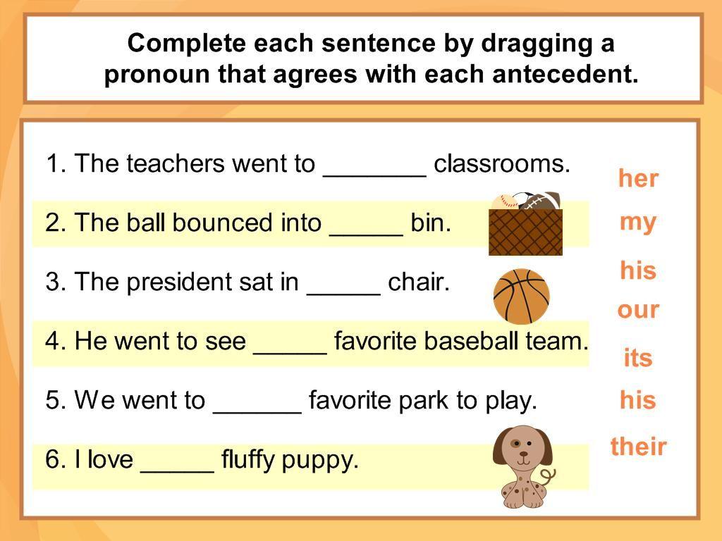 Worksheet Pronoun Antecedent Agreement Worksheets