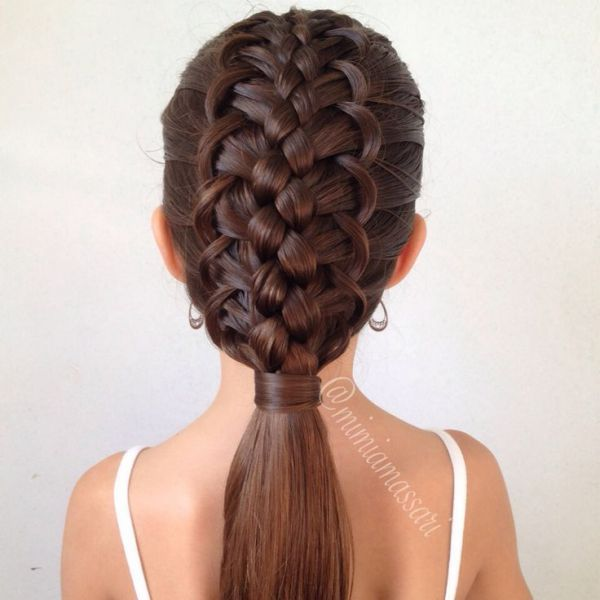 NAMES  OF COOL BRAIDS French loop braided hairstyle  Girls