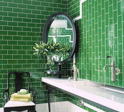 grüne fliesen subway für das bad in der form des rechtecks