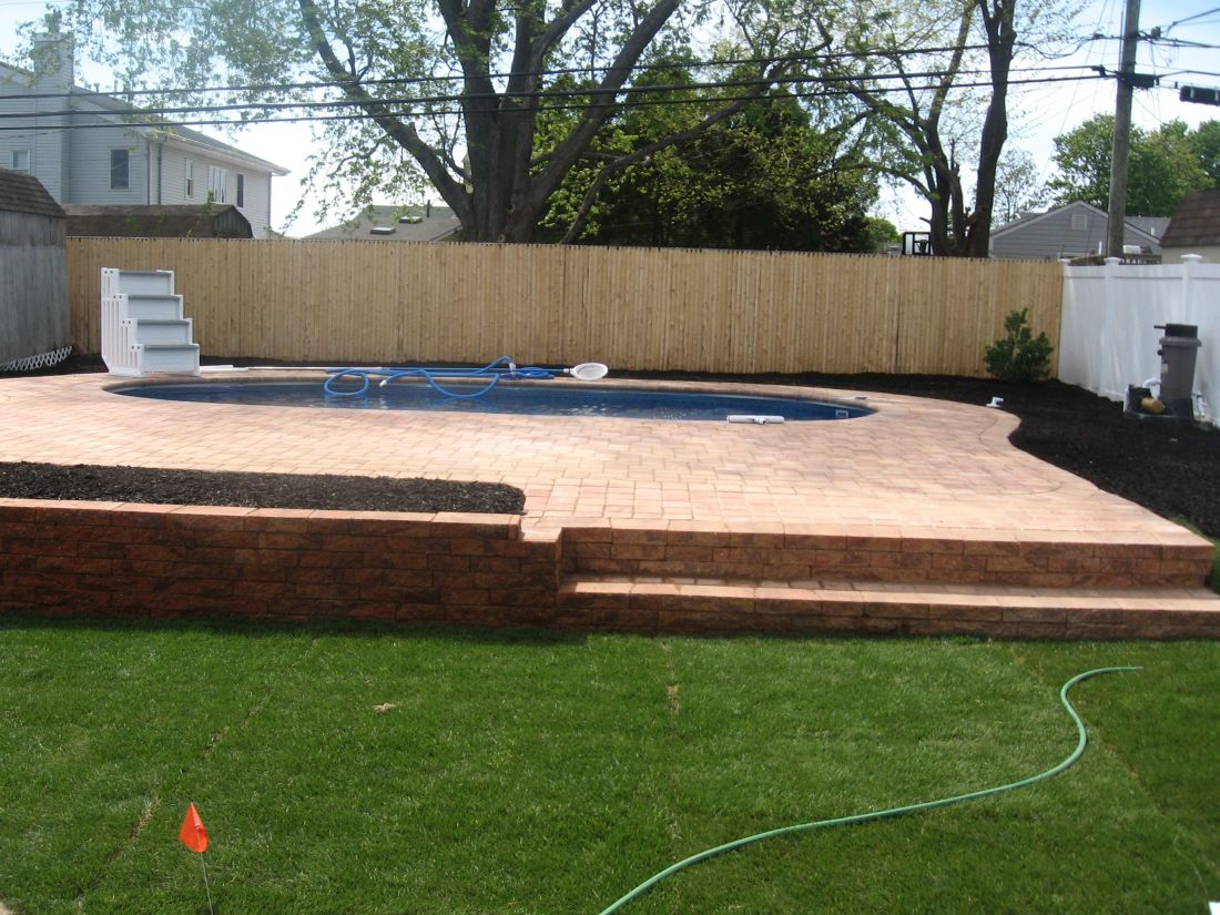 how to level an above ground pool with pavers