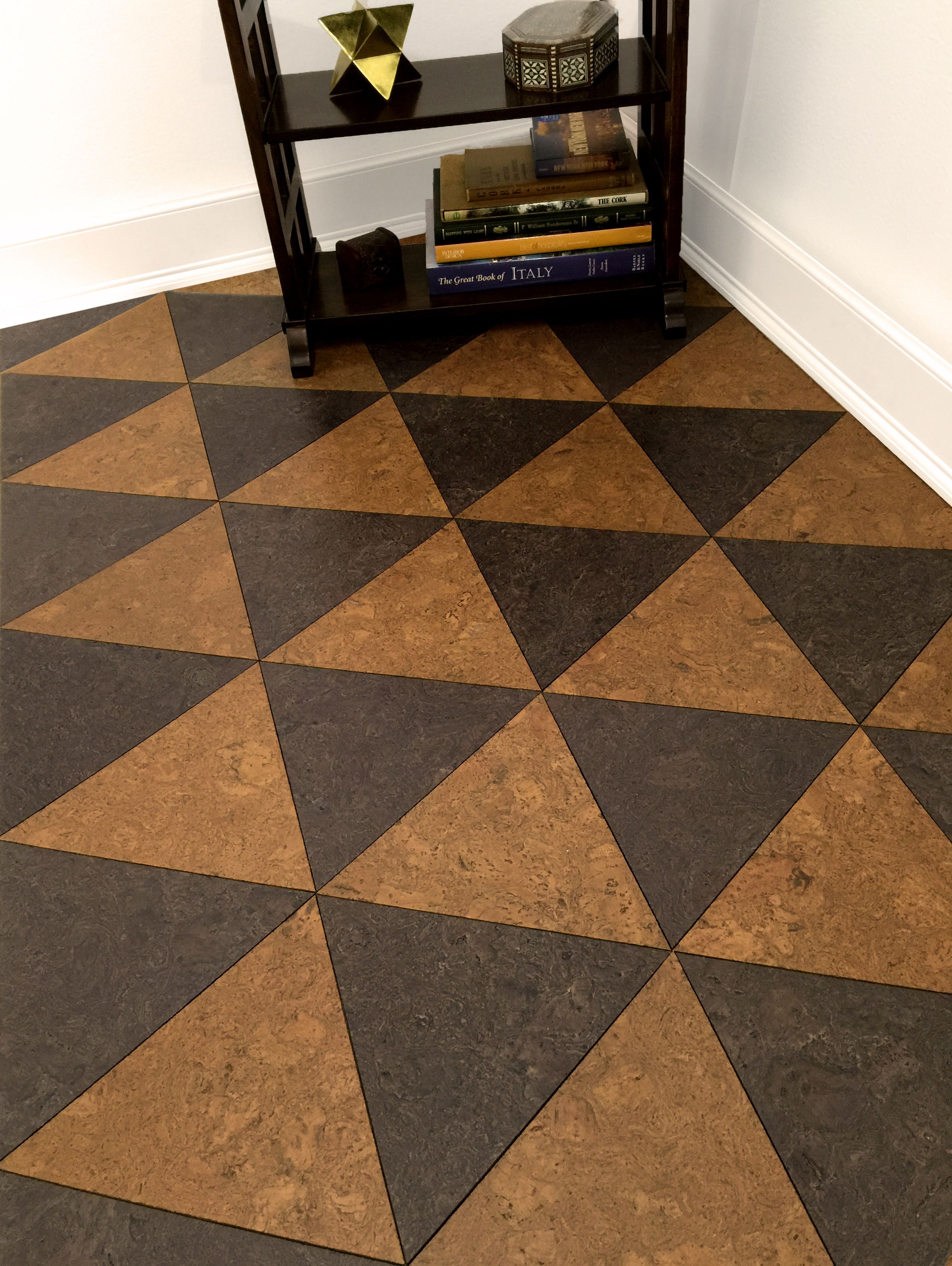 Cork Tiles for Flooring. Yes, this is a cork floor from