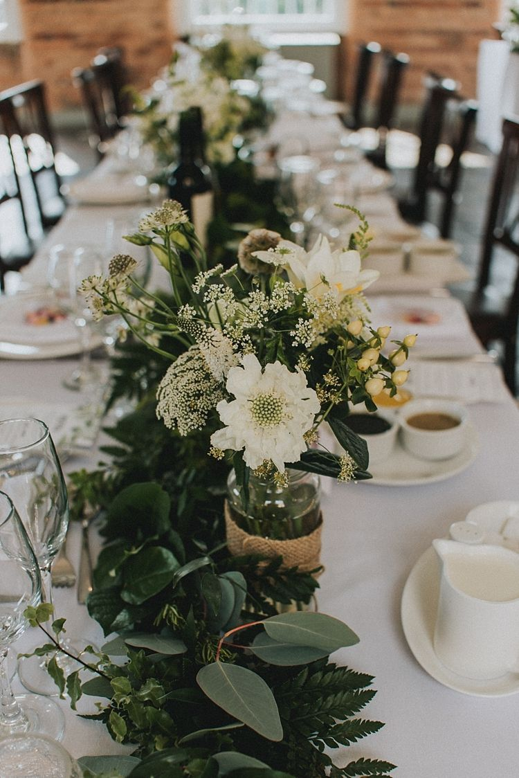 Industrial Cool Greenery Filled Playful Mill Wedding