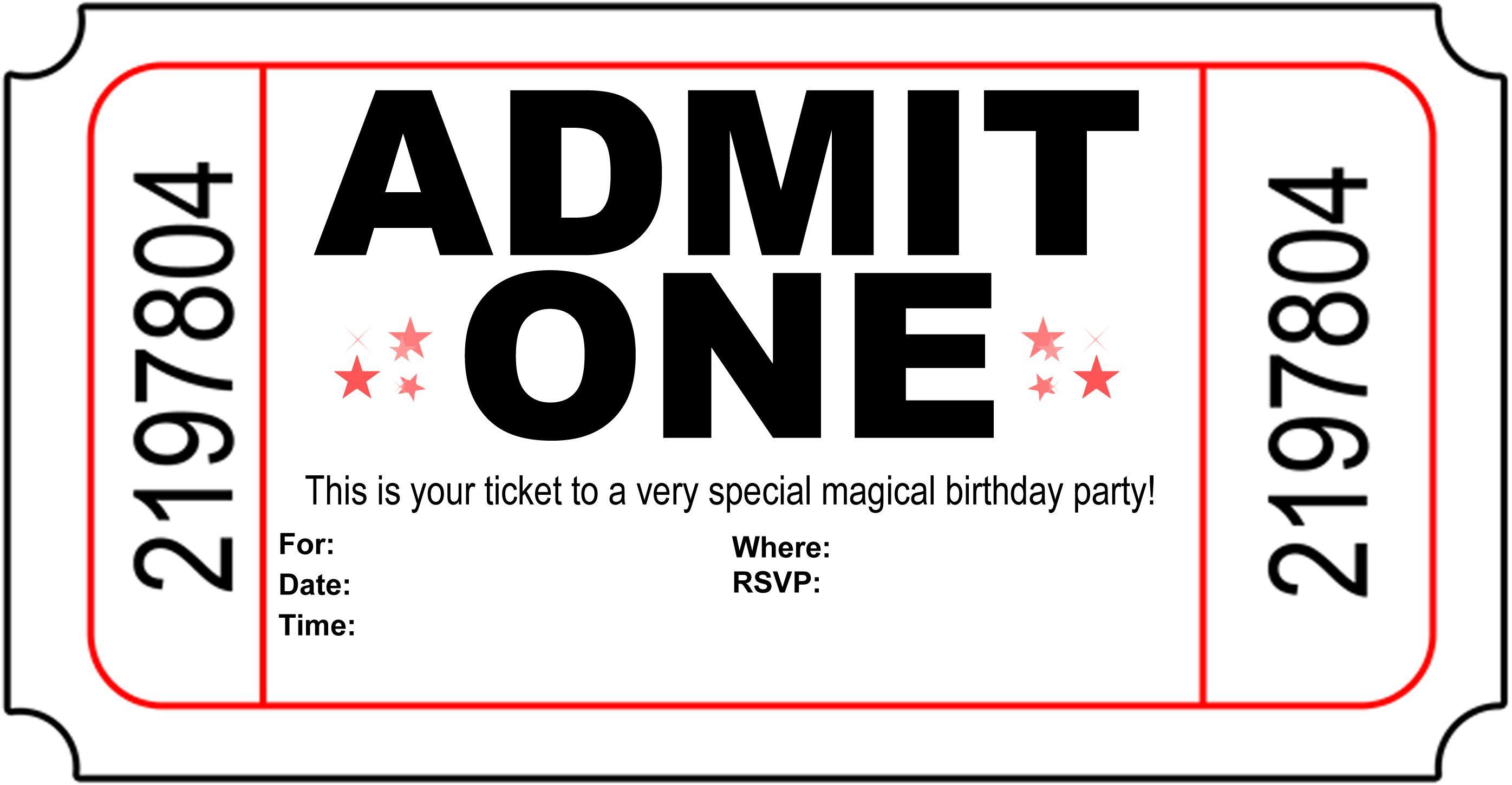Ticket Template Free Printable little princess royal diaper – Movie Ticket Invitations Printable Free