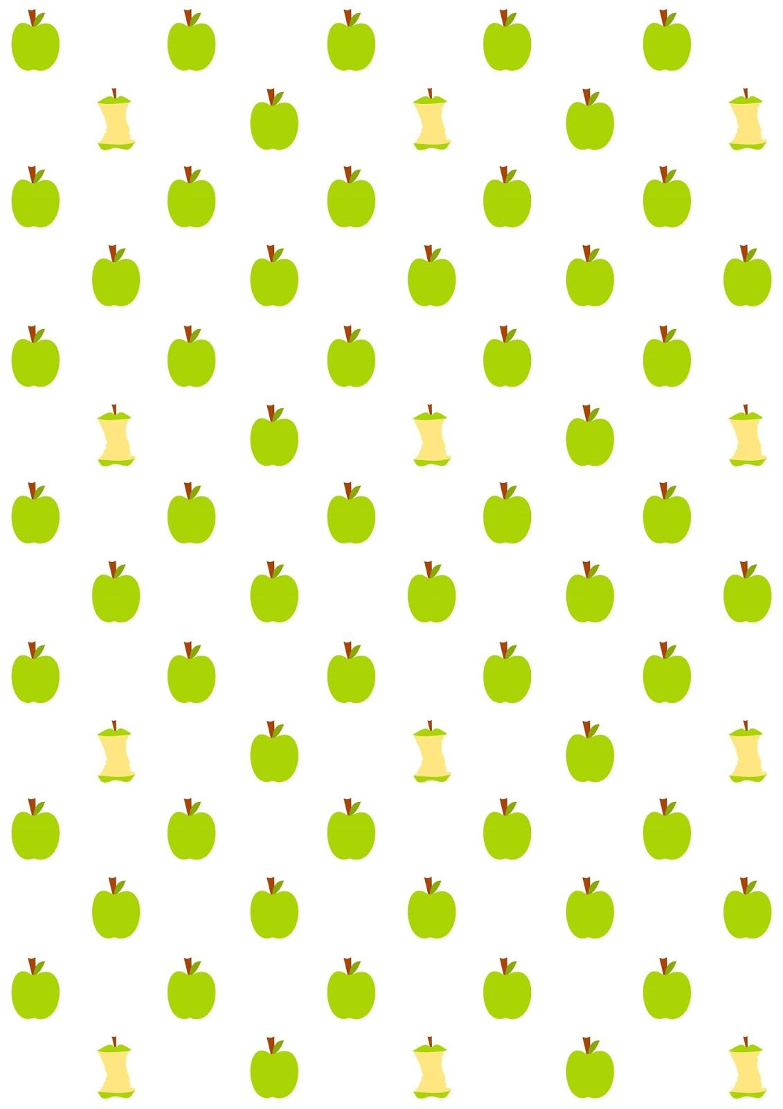Free Printable Apple Core Pattern Paper