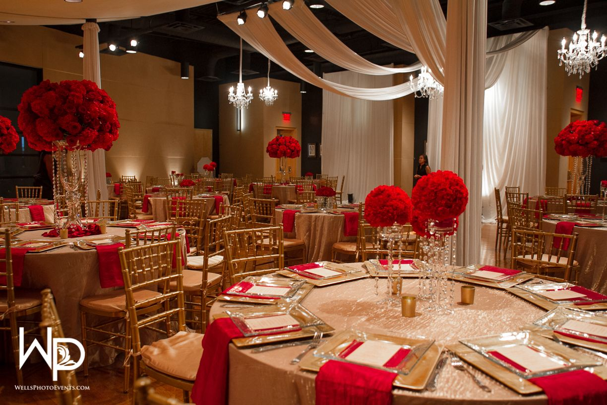 Red and Gold Wedding at WO Music School Wedding ideas