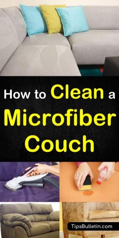 How to Clean a Microfiber Couch   Suede couch  Microfiber couch and     How to clean a microfiber couch  including tips on cleaning the suede sofa  with vinegar