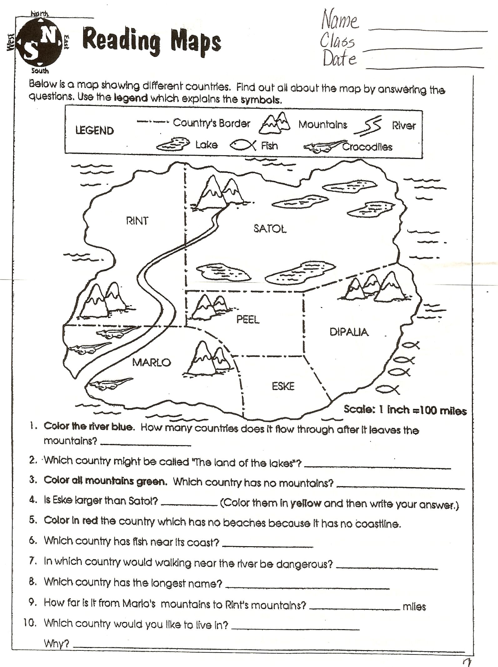 6th Grade Worksheets