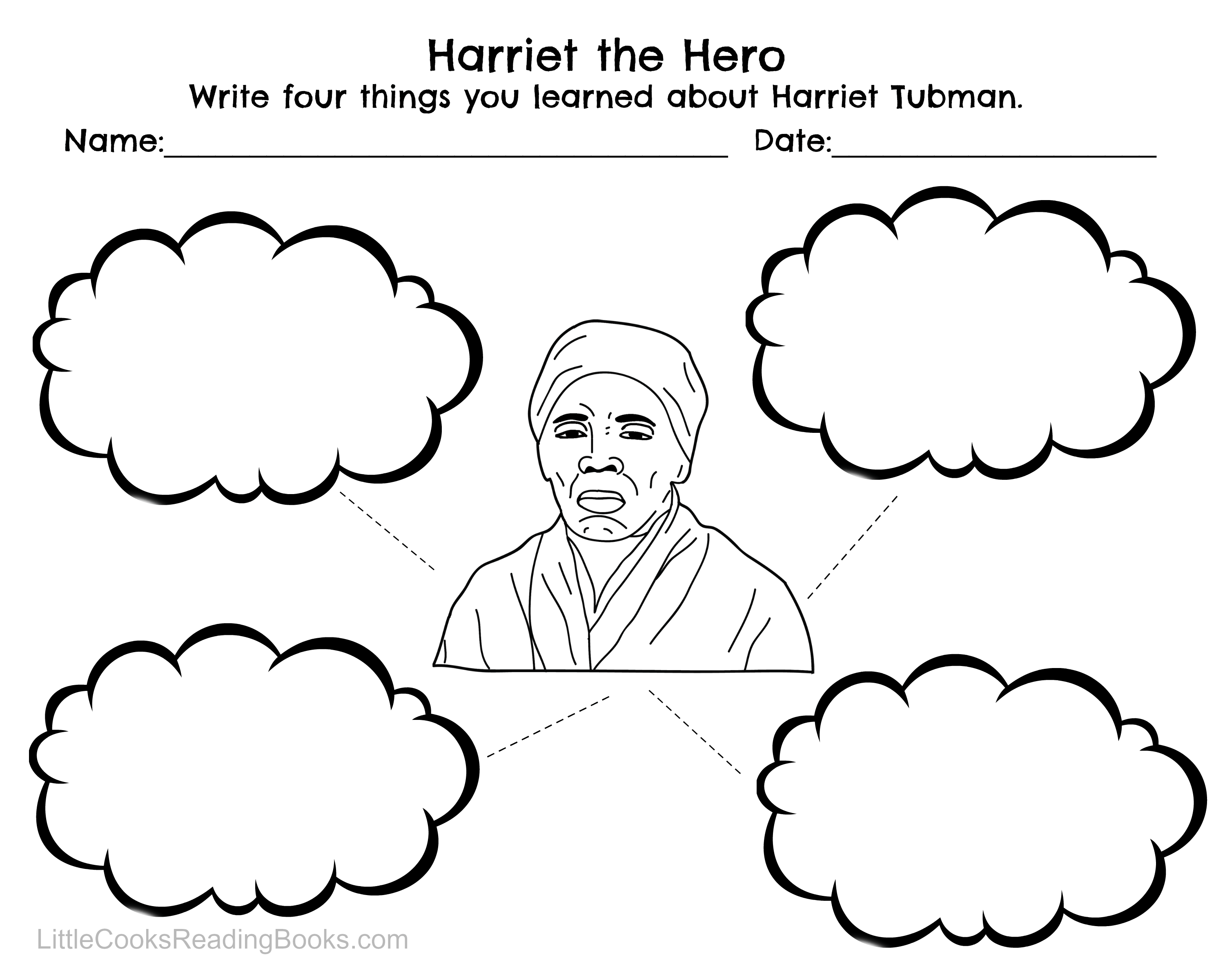 Harriet Tubman Printable Coloring Page