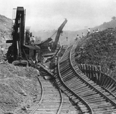 Image result for photos of landslides during panama canal construction