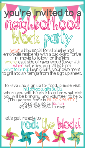 How to Throw a Block Party + Printable Invitation Template