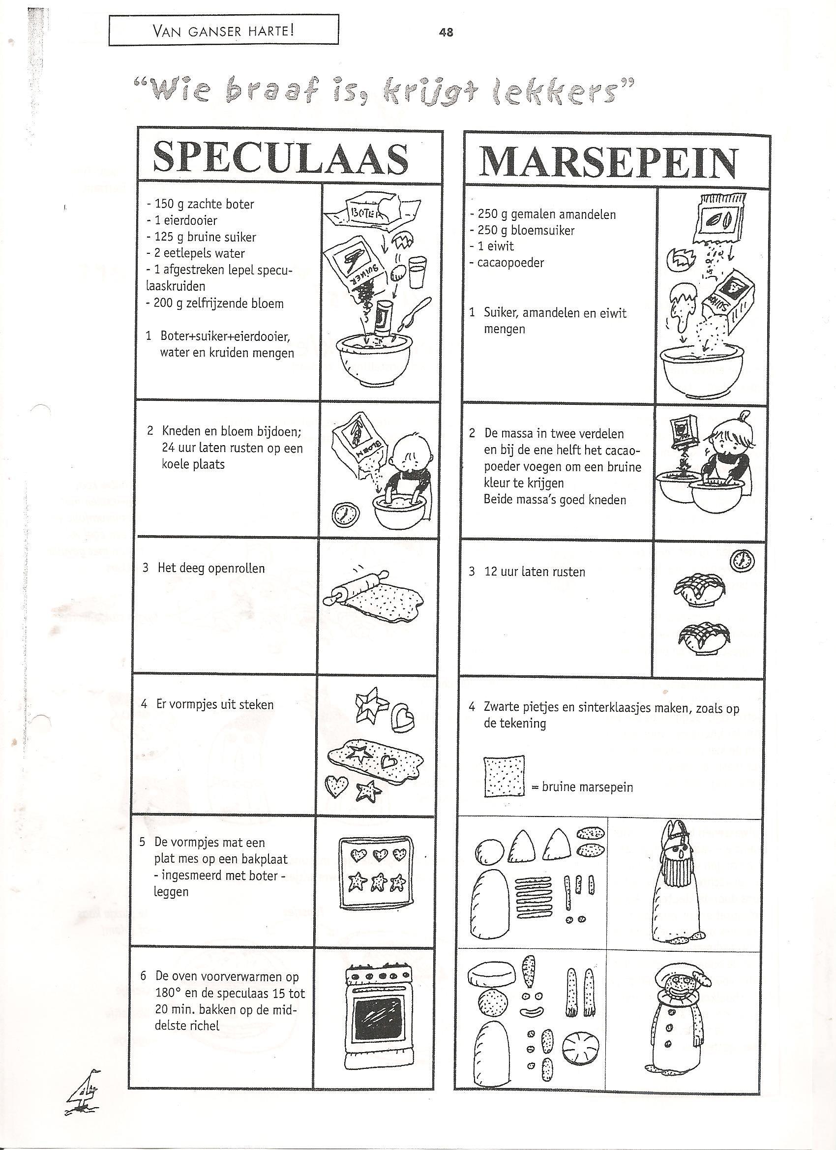 stappenplan speculaas en marsepein Sinterklaas