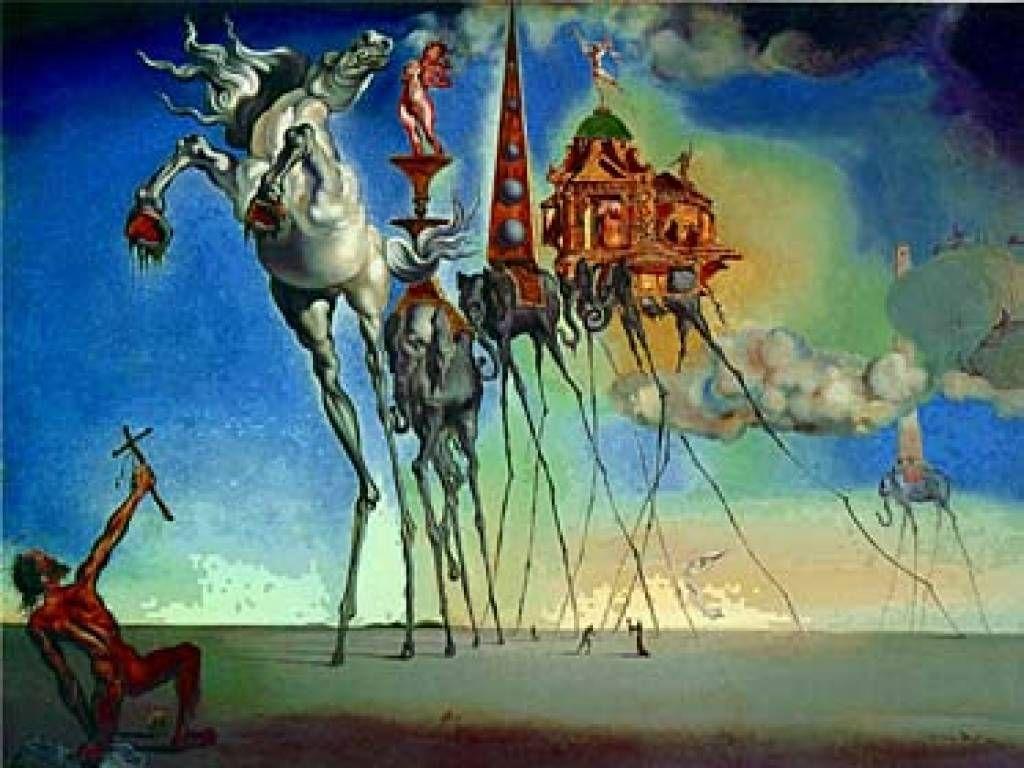 Salvador Dali Elephant From The Temptation Of Sain