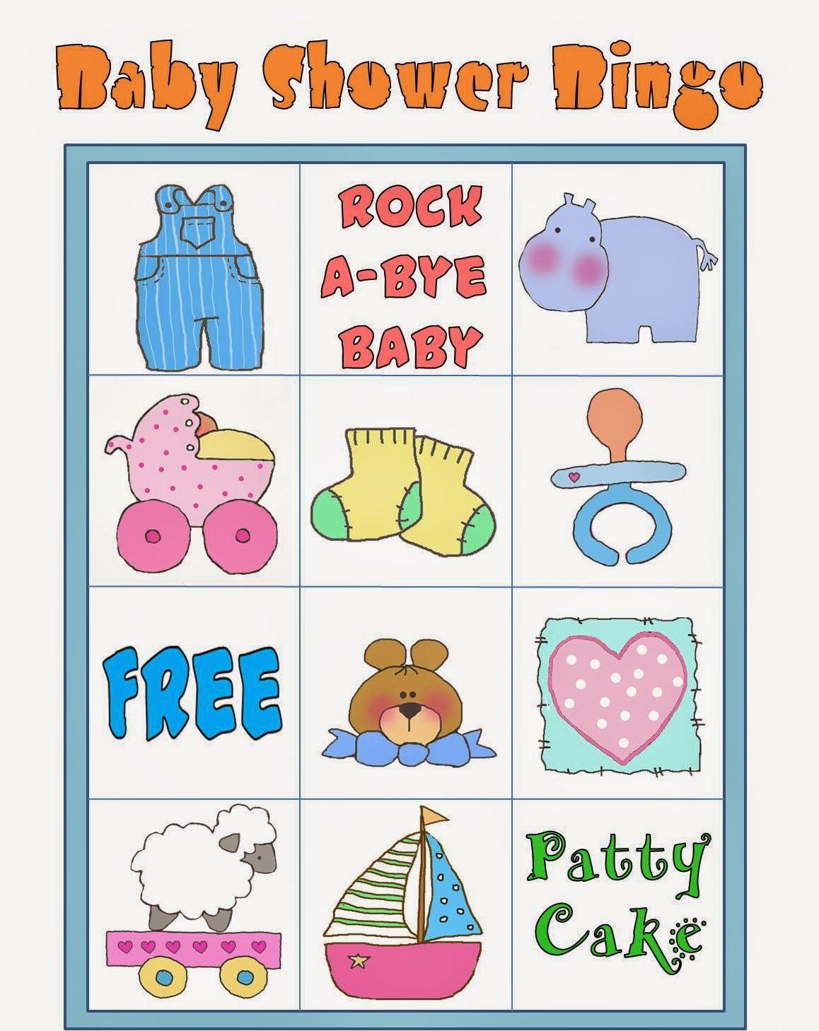 Bingo Para Baby Shower Para Imprimir Gratis