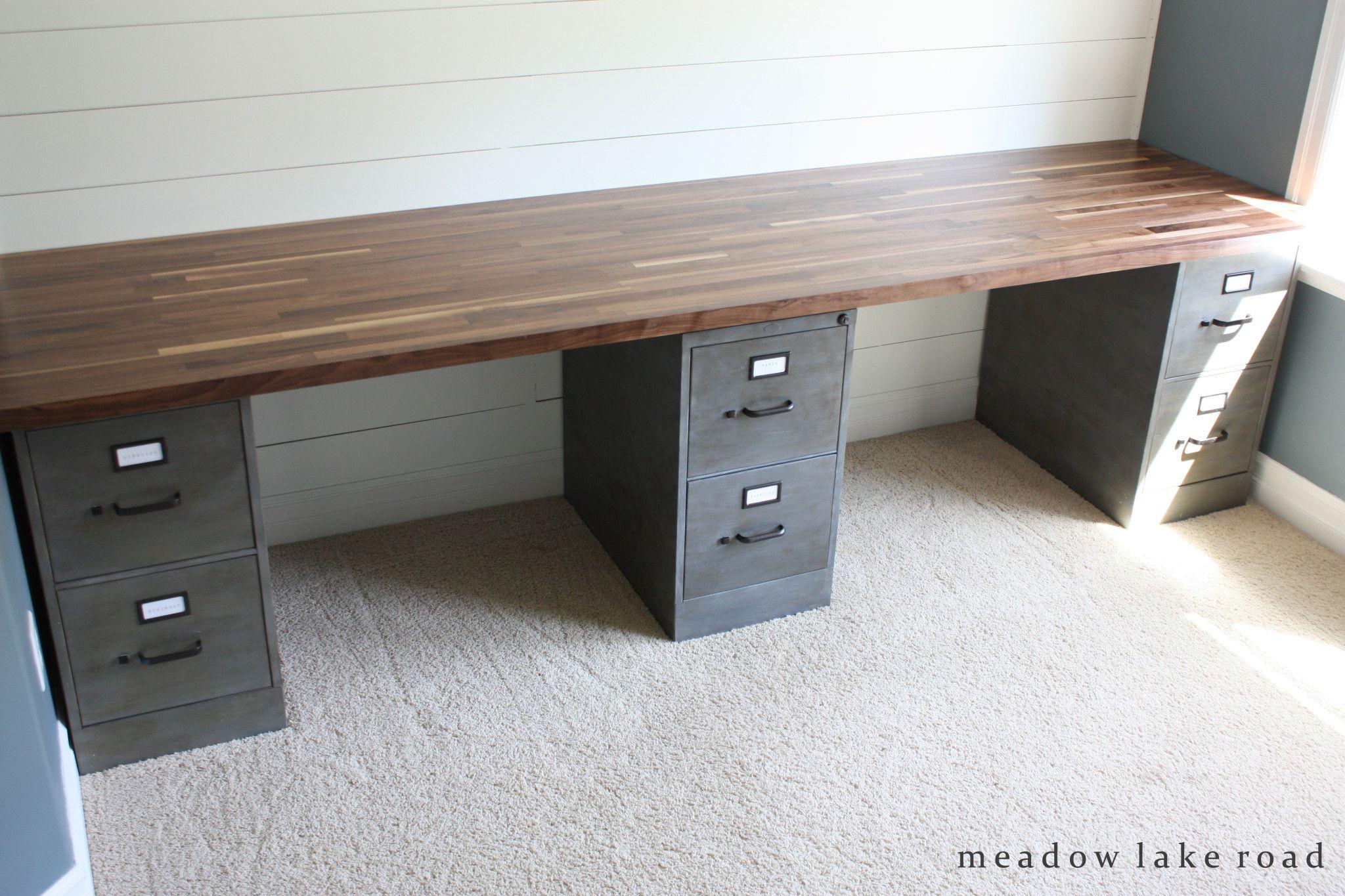 Butcher Block Desk Top Butcher block desk, Custom desk