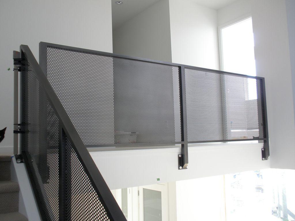 Mesh Aluminum Interior Railing Metal railings, Metals