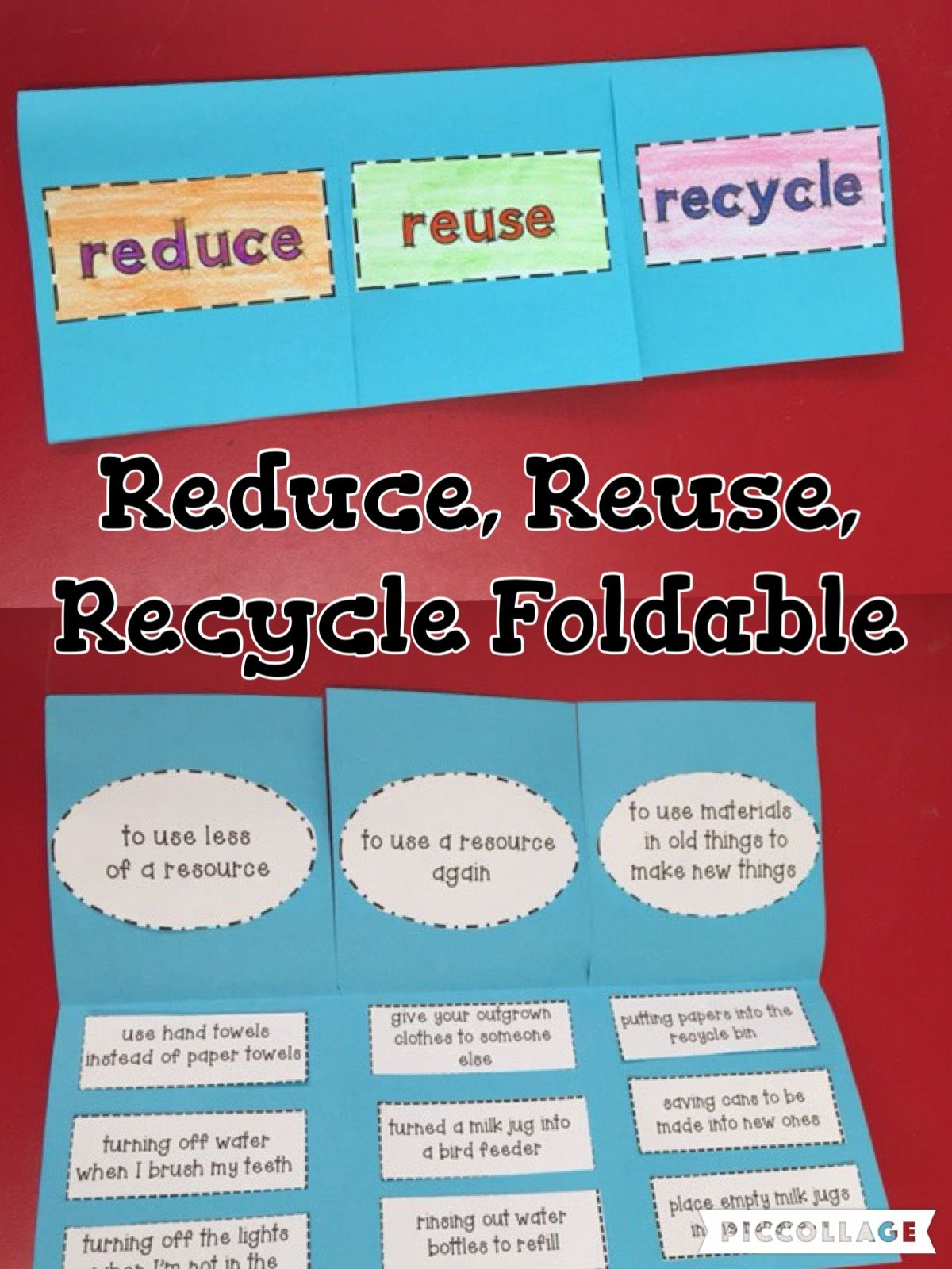 Reduce Reuse And Recycle Earth Day Foldable And