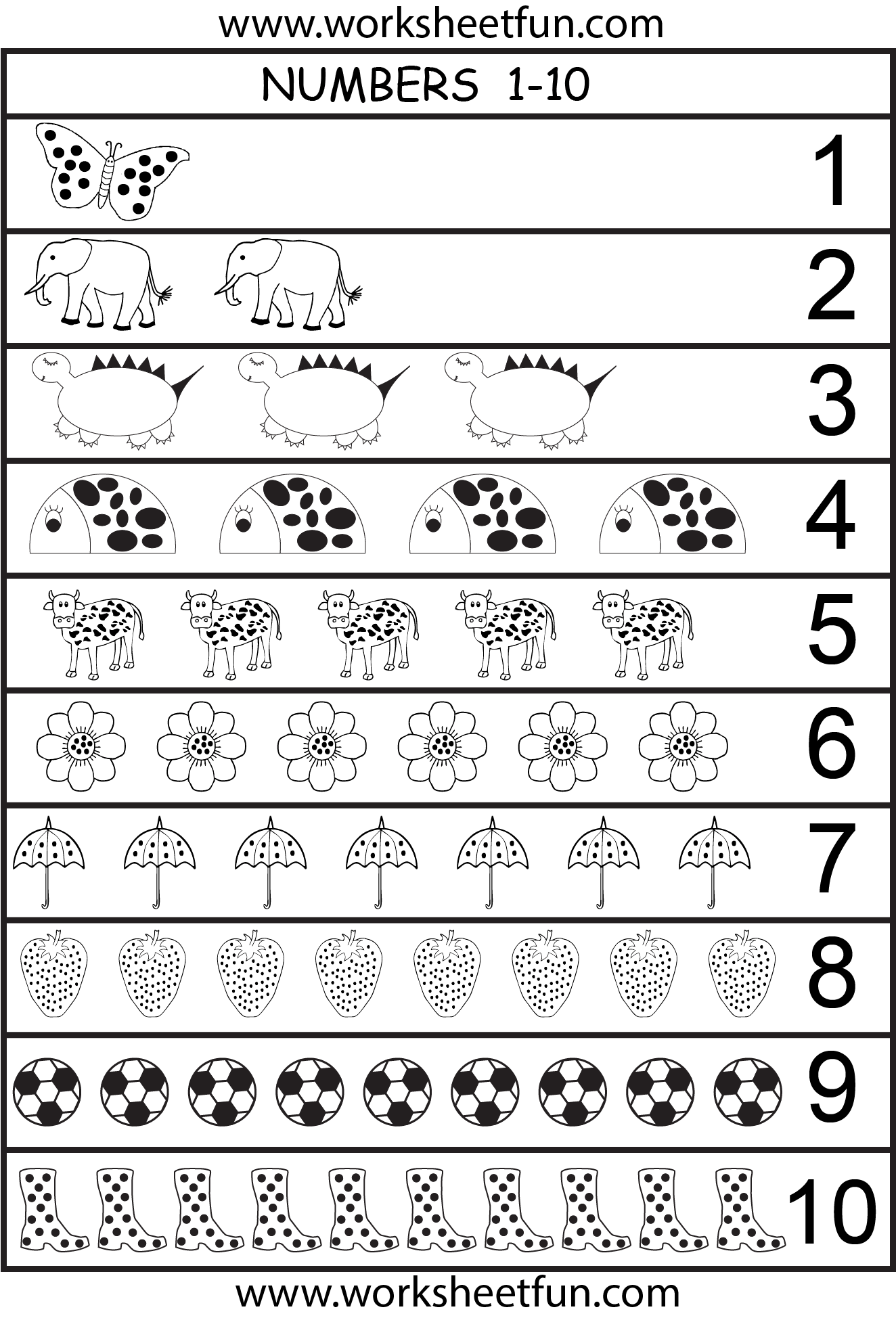 Tally Marks Worksheet Counting To 10