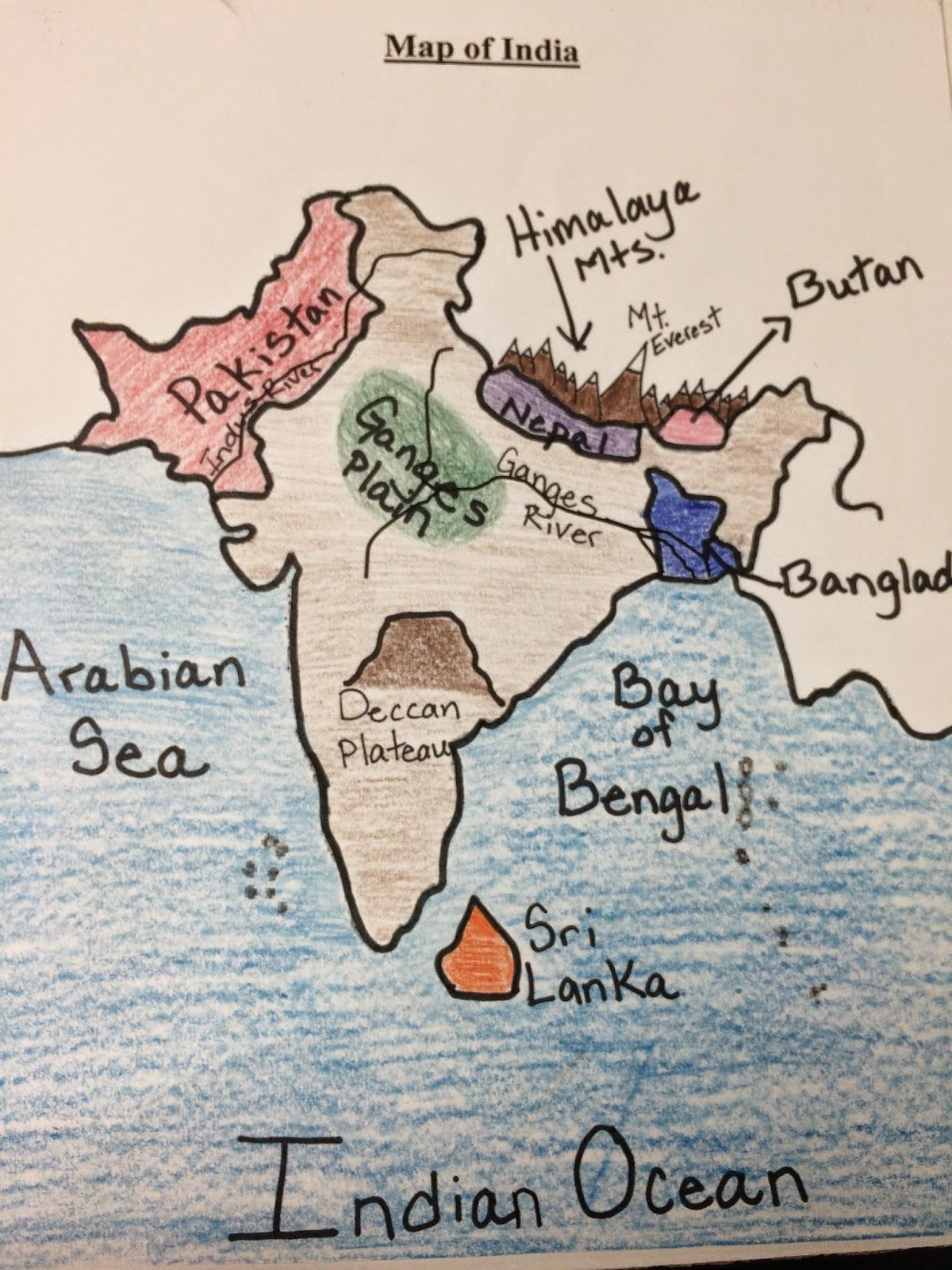 Water For Sixth Grade Map Of India