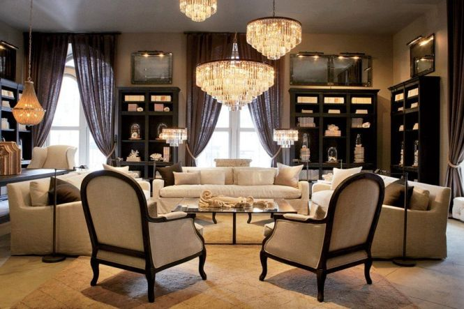 Ad 2017 June Restoration Hardware S Boston Flagship A Living Room Display Features Odeon