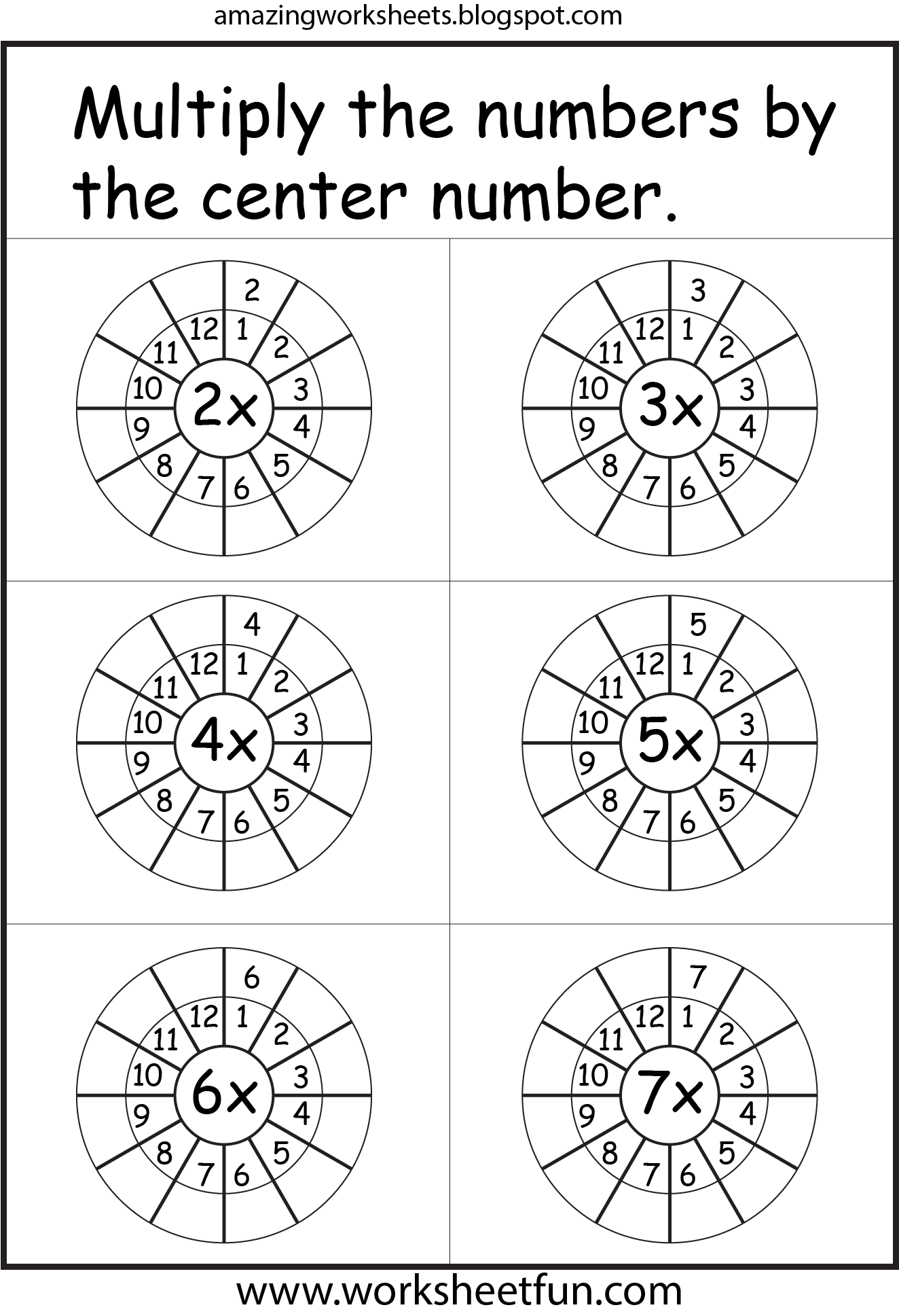 Multiplication Worksheets I Really Like This One With The