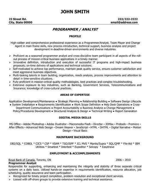 Java Programmer Resume Example. Senior Developer Resume Samples