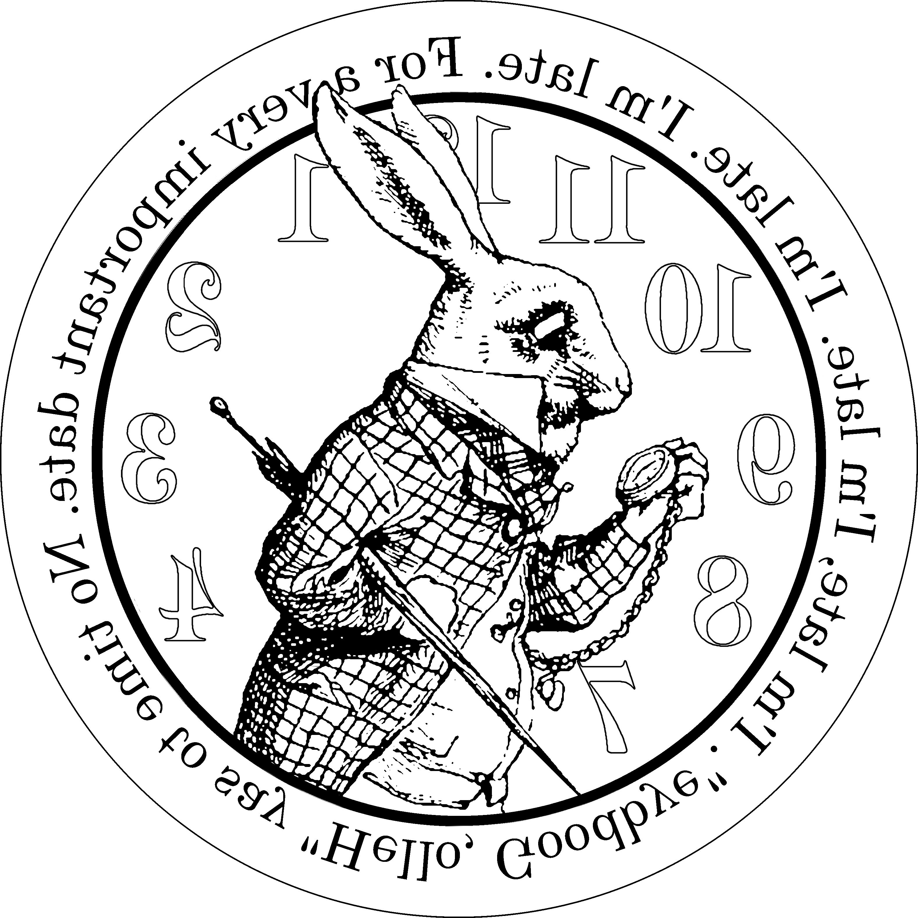 Alice In Wonderland Altered Clock Late Wooden Stool