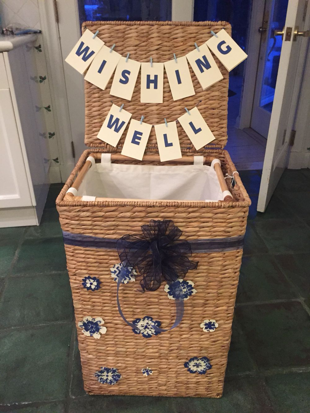 Beautiful wishing well and wishing well hamper is also a