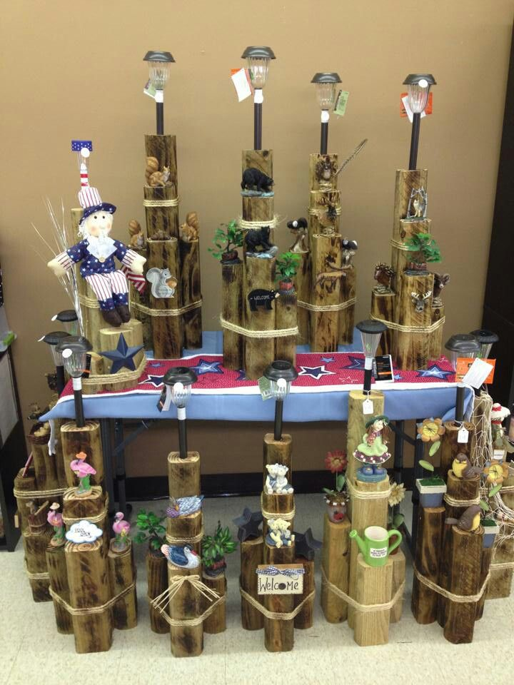 Wood solar lights Christmas Gifts Pinterest Deck