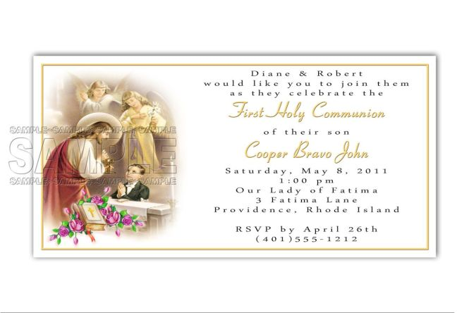 Invitation Card For First Holy Communion – Invitation Cards for First Holy Communion