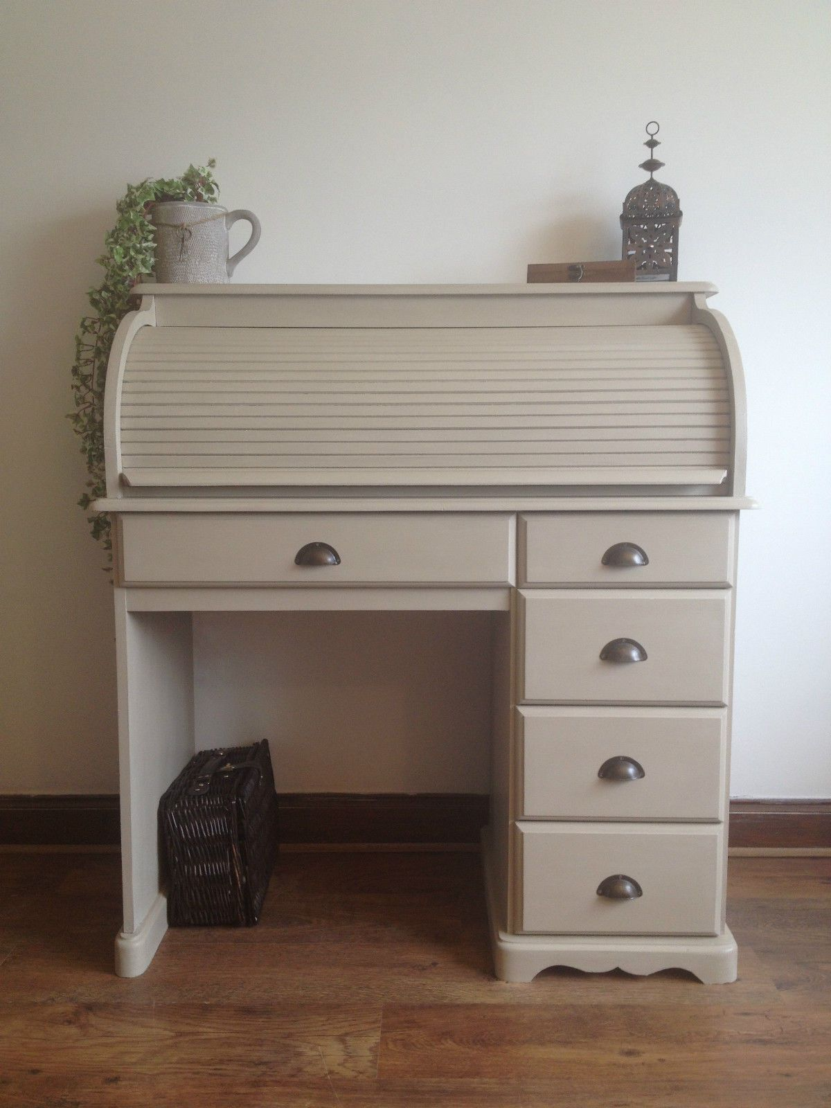 Stunning Shabby Chic Pine Roll Top Desk Painted Annie