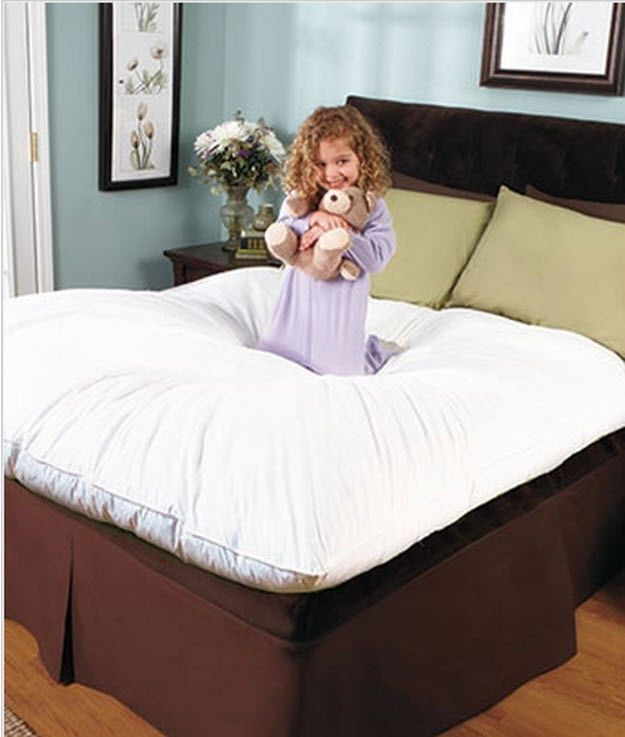 Details About Mattress Pad Bed Topper Microfiber Fill Queen King Full Twin Xl Soft