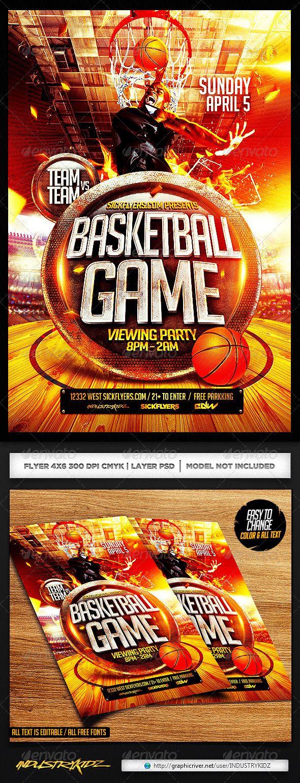 Basketball Playoffs Flyer PSD Basketball playoffs, Event