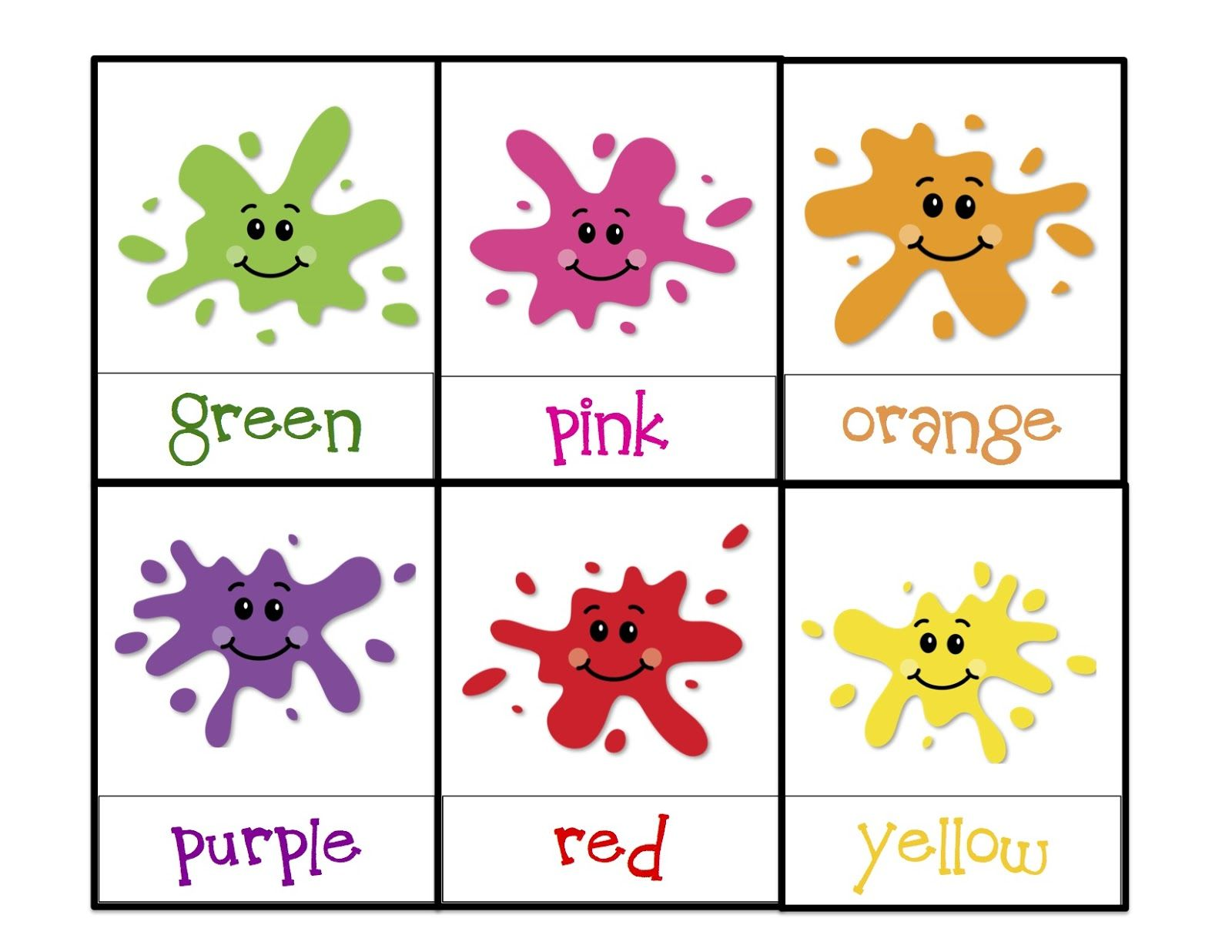 Toddler Color Learning Printables