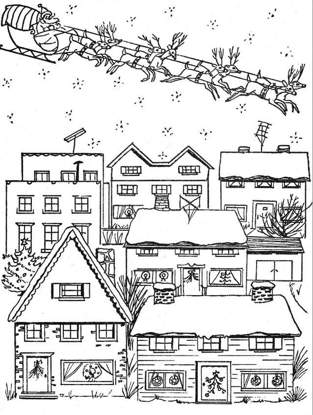 """from """"Under The Christmas Tree"""" coloring book CP House"""