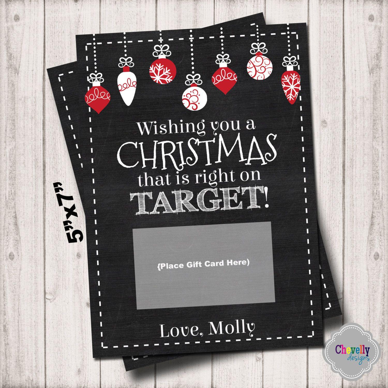 Target Christmas Gift Card Printable XMAS004 Target