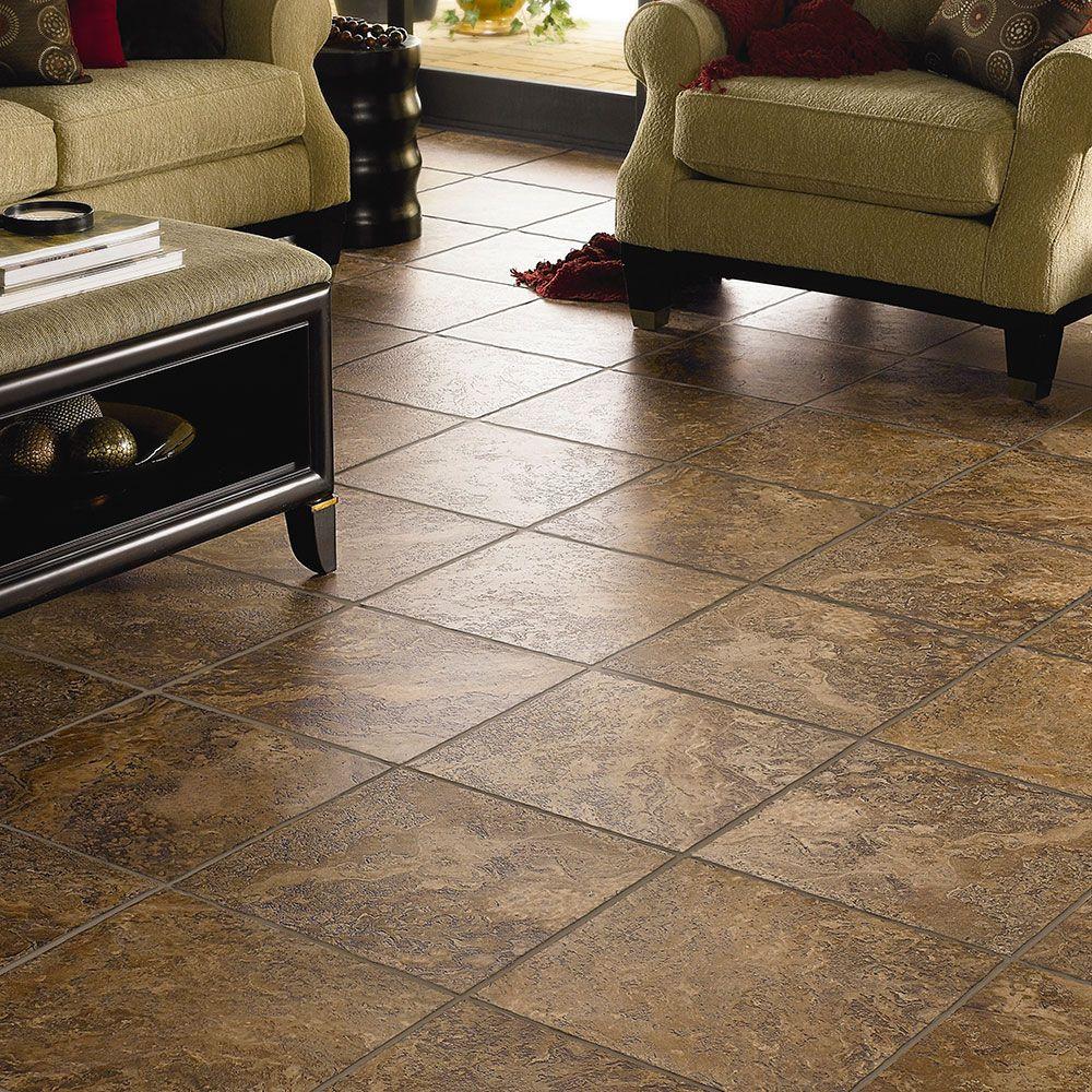 Luxury Vinyl Tile Flooring. Looks like tile, but warmer