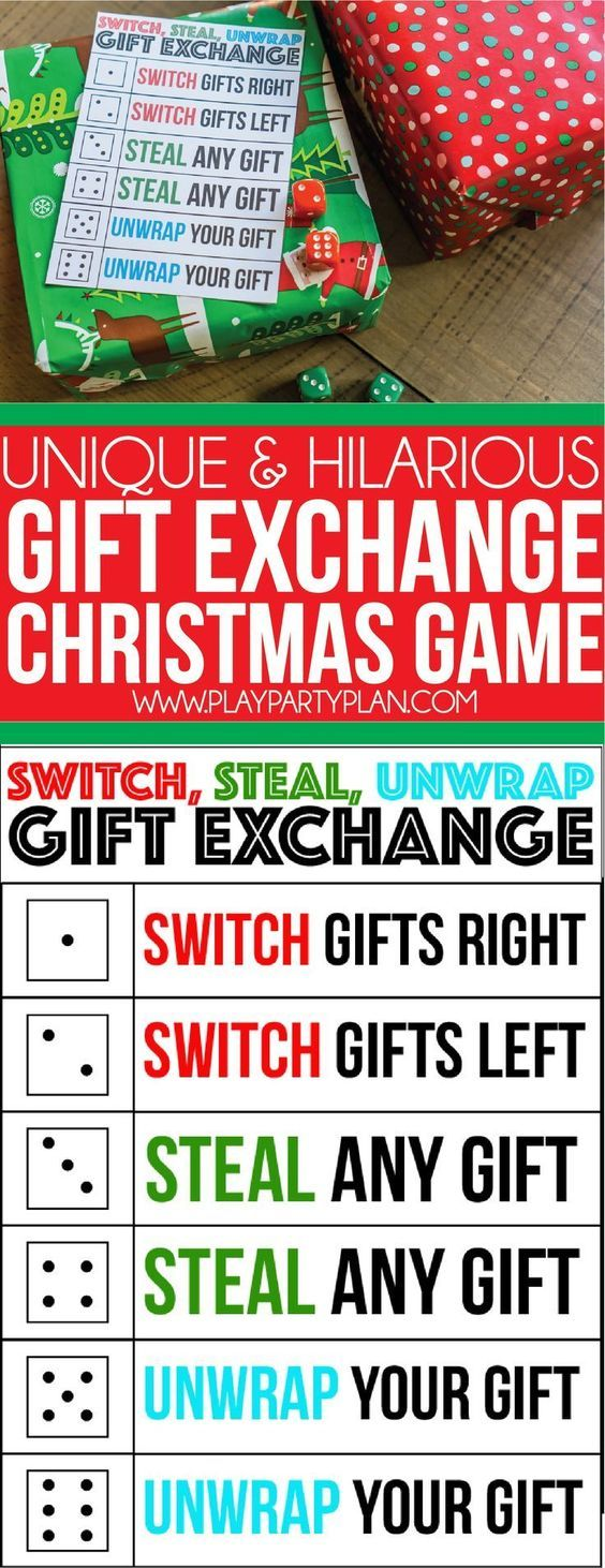 A perfect gift exchange game for kids, for adults, and