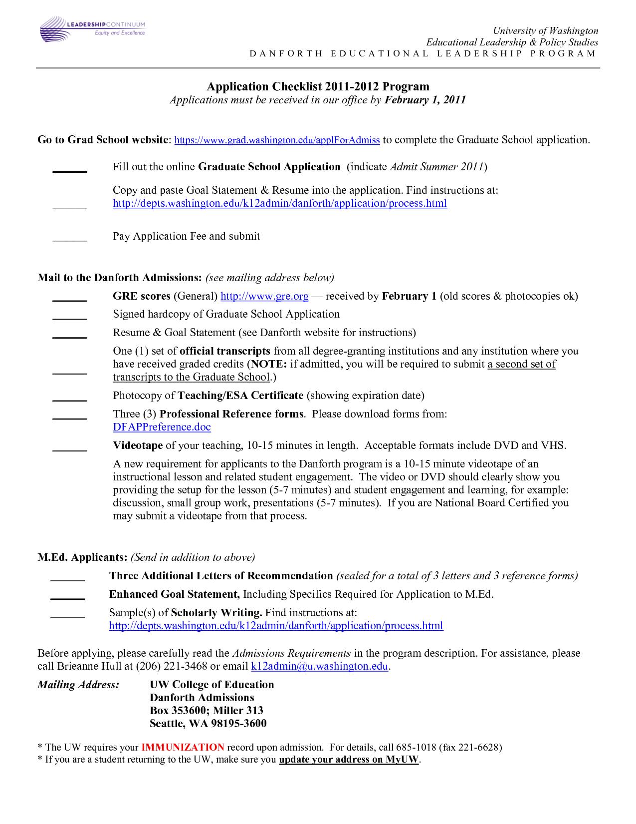 Graduate School Resume Format http//www.resumecareer