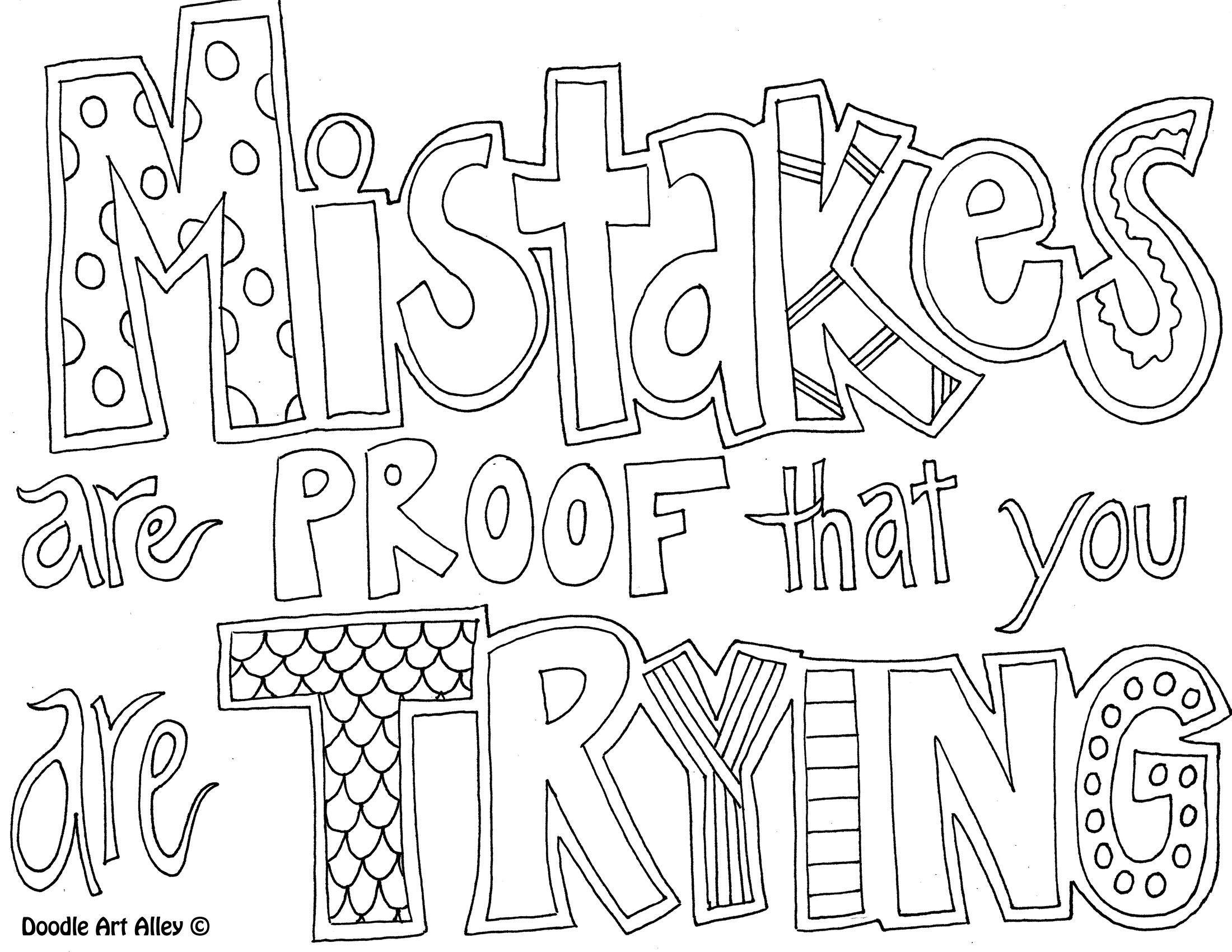 View Picture Doodle Art Alley Quotes Coloring Pages With