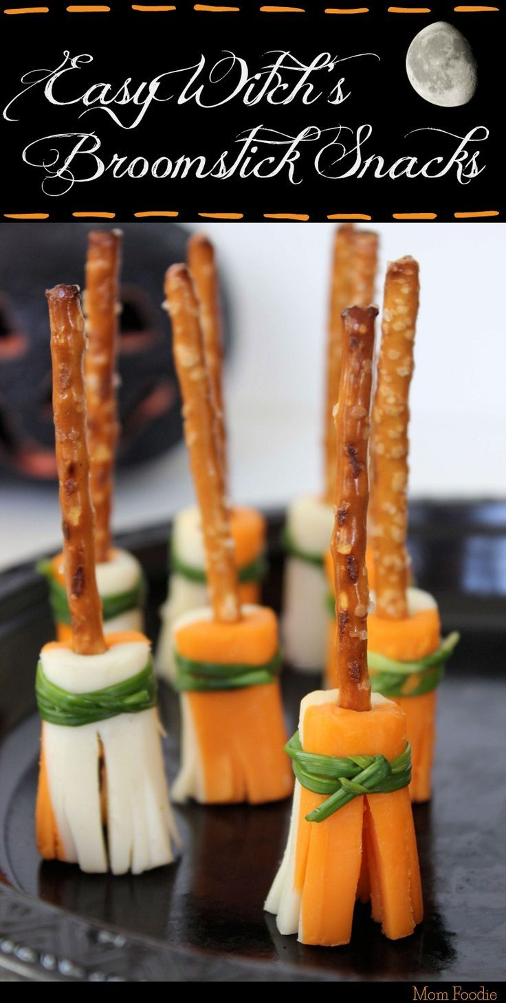 Witch's Broomstick Snacks Easy Halloween Party Snacks