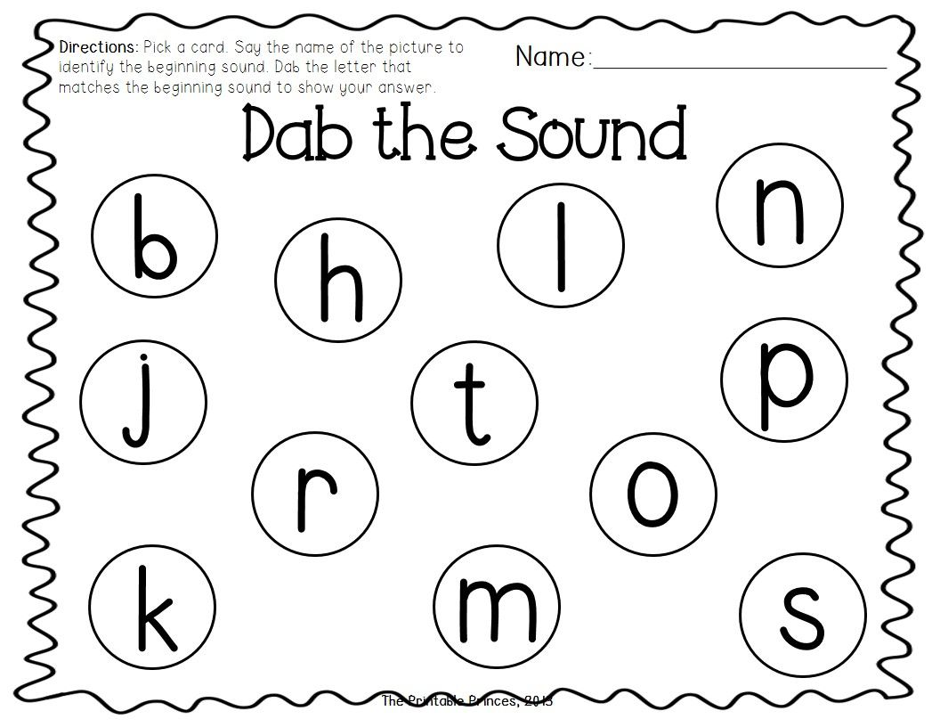 Beginning Sound Bingo Dabber Freebie Students Select Picture Card And Then Use A Bingo Dabber