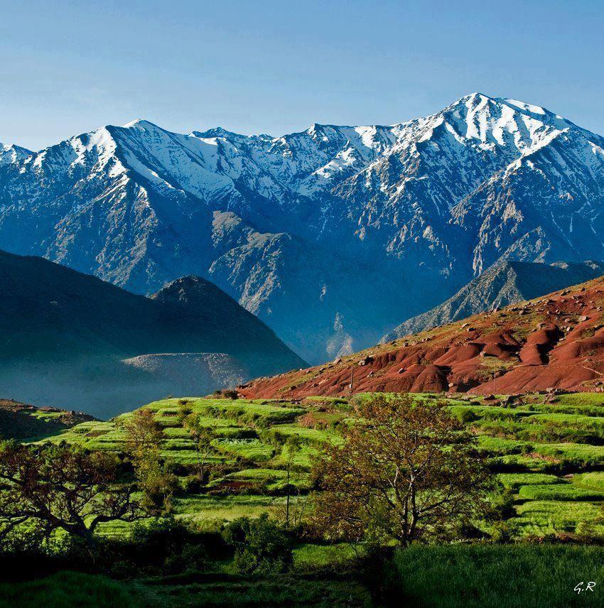 Atlas Mountains, Morocco. The Atlas Mountains range across