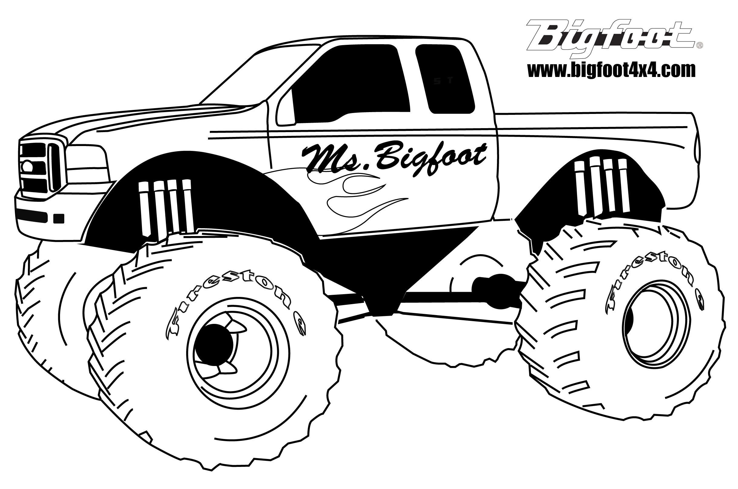 Showing Post Amp Media For Monster Truck Coloring Pages