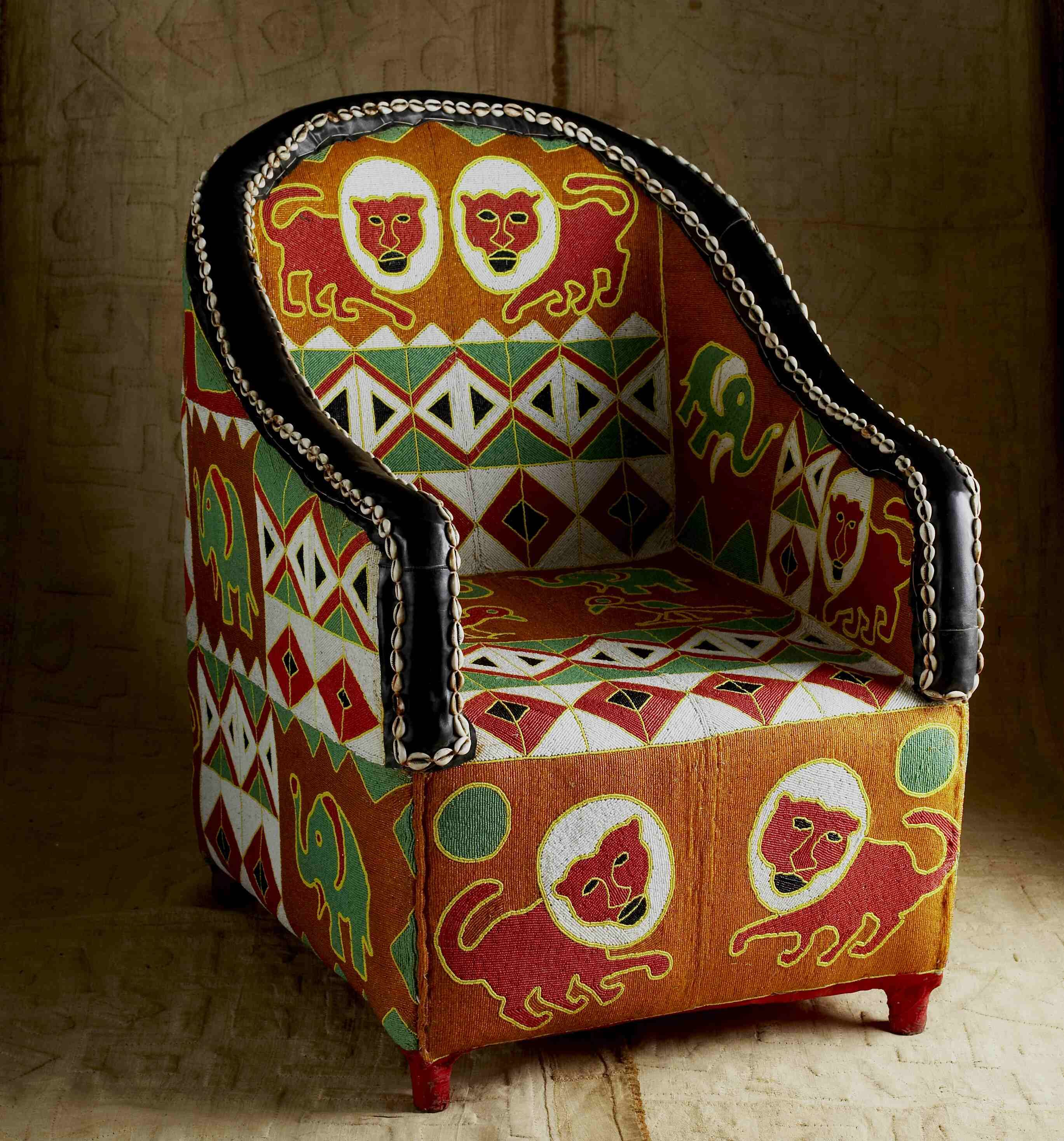 Beaded Yoruba chair from Nigeria In the Hot Seat Pinterest