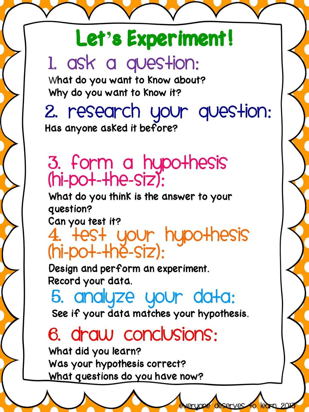 Scientific Method Freebie Scientific method, Science