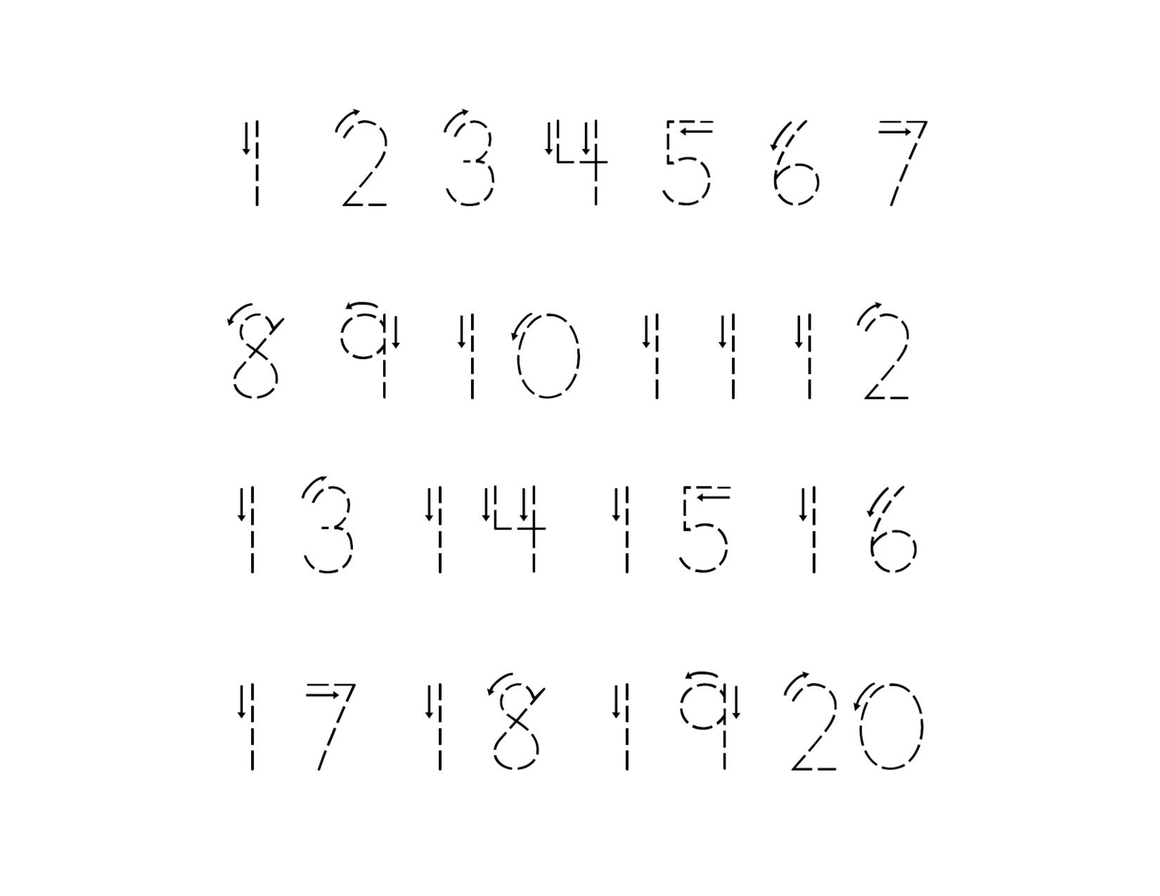Practice Writing Numbers 1 20 Worksheet For Kindergarten
