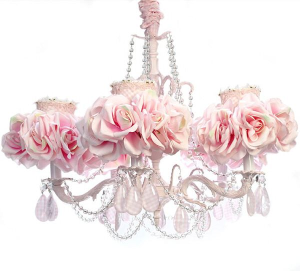 Good For A Really Lovely Room Previous Pinner Pink Gingham Rose Chandelier