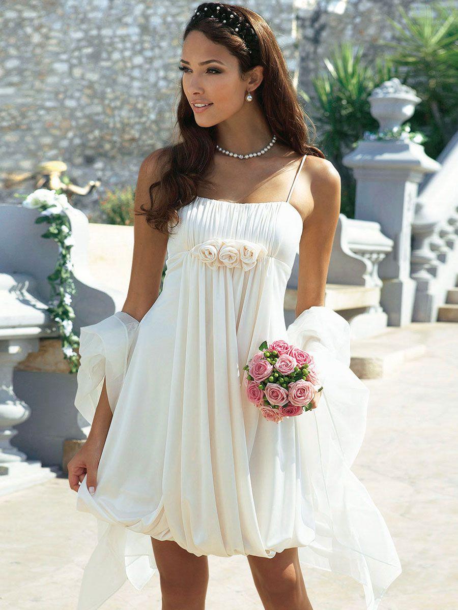 25 Short Beach Wedding Dresses Short beach wedding