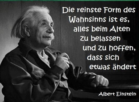 Albert Einstein Quote Zitat Veranderung Change