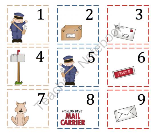 Mail Carrier Printable Preschool Printables post
